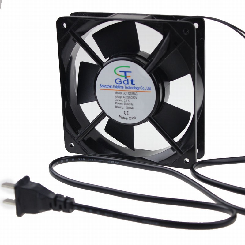 1 Piece 120x120x25mm Axial Flow Cooler 12cm 120mm 220v 240v 2pin With Plug Ac Cooling Fan In Fans From Computer Office On Aliexpress