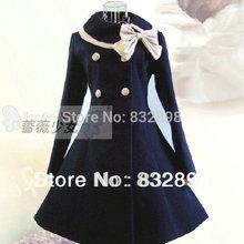 Новинка; милое шерстяное зимнее платье в стиле «Лолита»; зимнее пальто для девочек; пальто принцессы для девочек