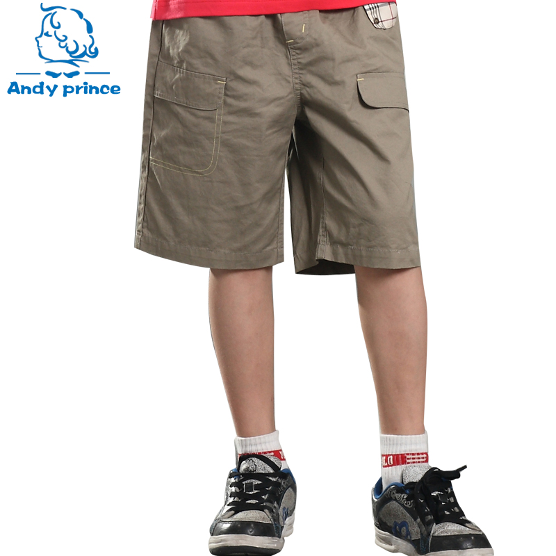 New Fashion Summer Boy Knee-length Cotton Children Trouser   Pants     Capris   Casual fifth Beach   Pants     Capris   Trousers for Boys