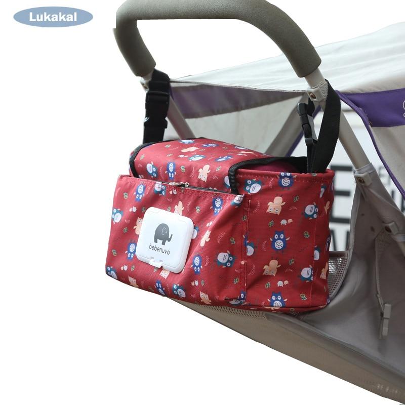 Baby Stroller Bag Organizer Pram Hangning Storage Bottle Diapers Bag Baby Mother Nappy Messenger Accessories Baby Children Care