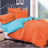Bright Colored Bedding Set Polyester 4 Pcs Comforter Cover Set Duvet Cover Bed Sheet Bed Clothes
