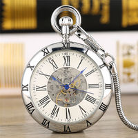 Automatic Mechanical Pocket Watches Elegant Roman Dial Hollow Out Vintage Necklace Pendant Watch Gifts Reloj Mujer Clock orologi