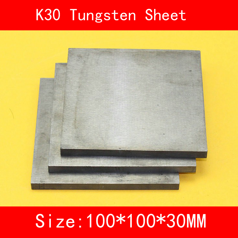 30*100*100mm Tungsten Sheet Grade K30 YG8 44A K1 VC1 H10F HX G3 THR W Tungsten Plate ISO Certificate