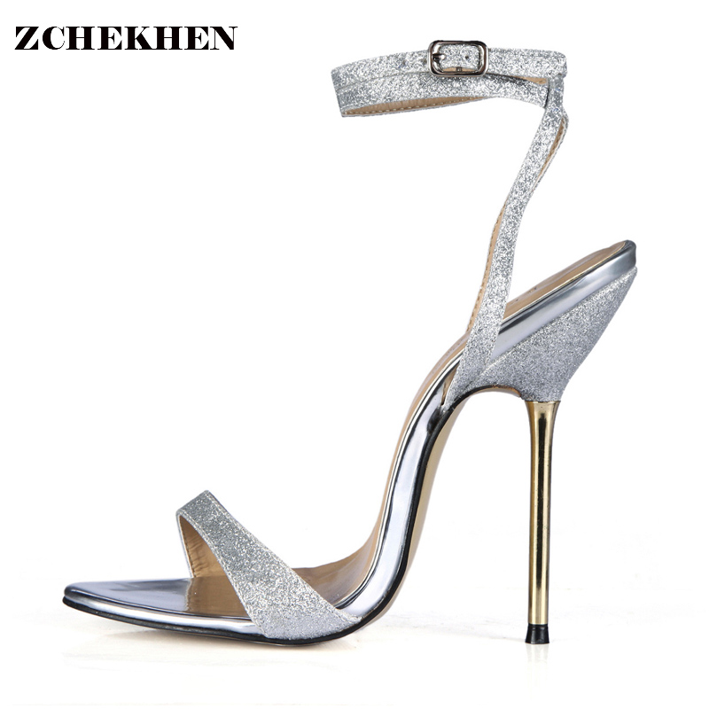 2018 Bling Party Summer Shoes PU Women Sandals Square High Heel Sandals Rhinestone Peep Toe Wedding Shoes Plus Size  3845-i5 newest design stylish wedge sandals bling bling multicolor rhinestone decoration celebrities style concise peep toe party shoes