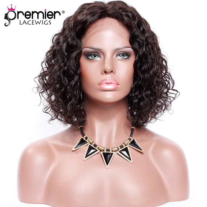 PREMIER LACE WIGS Permanent Root To Tip Curls,4.5 Deep Middle Part Bob Style,Pre-Plucked Lace Front Wig[CLFW-61]