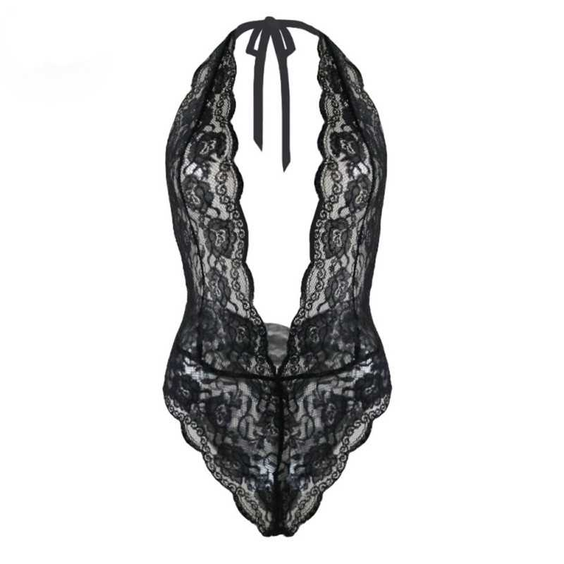 2019 Sexy Lingerie Women Black Lace Transparent Erotic Underwear Backless Temptation Intimate Sexy Costumes