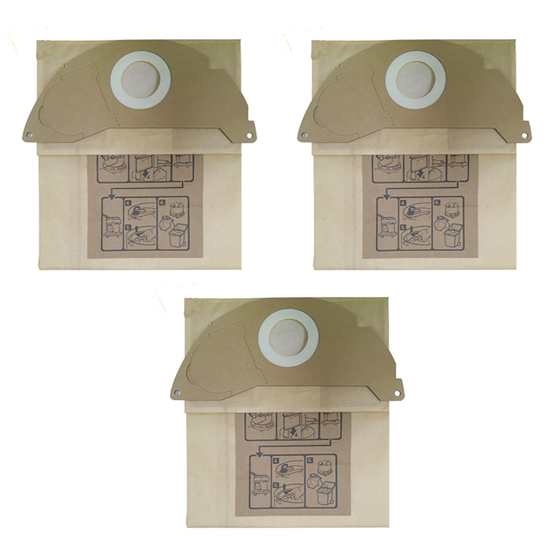 3PCS Top Quality Thicken Vacuum Cleaner Parts Accessories Robot Vacuum Dust Bags For KARCHER WD2250 A2004 A2054 MV2