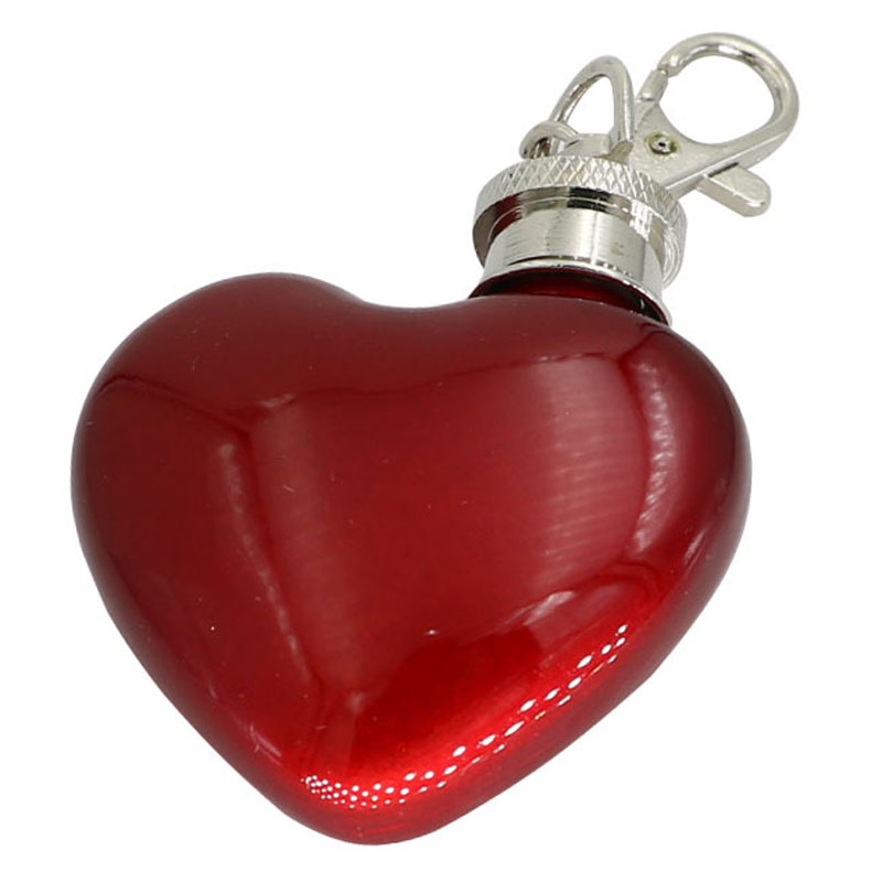 10 Pcs Lot Portable Mini Heart shaped Bottle Key Chain alcohol flasks with funnel 1 oz Heart Stainless Steel honest hip flask in Hip Flasks from Home Garden
