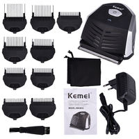 Kemei Portable Hair Clipper Electric Cordless Mini Hair Trimmer Professional Beard Shaver Razor Trimer Shaving Machine 9 Combs