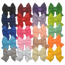 20pcs/lot 20colors 8cm Felt Cloth Swallow Tail Bowknot with/without Clip for Girls Headwear DIY Hair Decorative Accessories