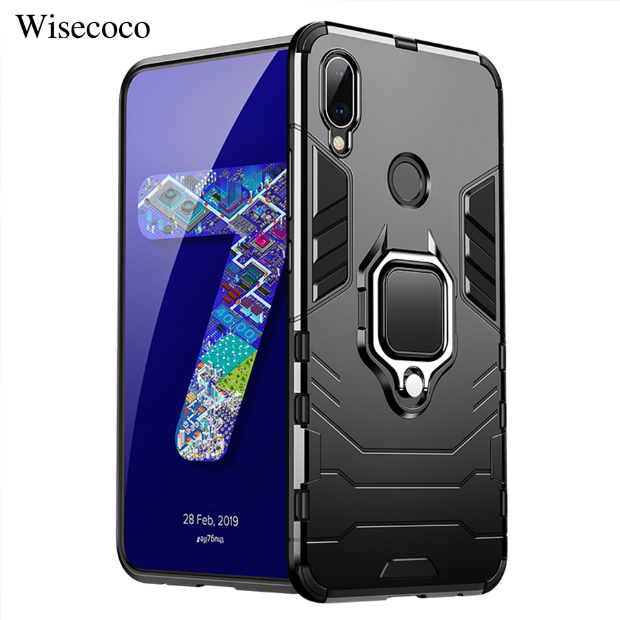 Armor Case for <font><b>Xiaomi</b></font> MI 9 8 Se A2 <font><b>Lite</b></font> 6X MIX 2 2S Max 2 3 Pocophone F1 Redmi k20 Note 7 6 5 Pro Play Magnetic Car Ring Cover image