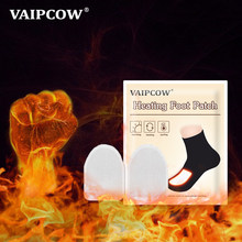 VAIPCOW Disposable Automatically Winter Heated Insoles Foot patch Women Men Heating Warm About 48 Degree Shoe Inserts Foot Pads(China)