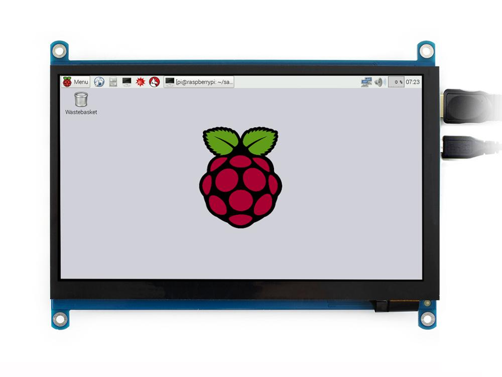 Image 2 - Waveshare 7 inch HDMI LCD (H) Computer Monitor 1024*600 IPS Capacitive Touch Screen Supports Raspberry Pi Jetson Nano Win10  etc-in LCD Monitors from Computer & Office