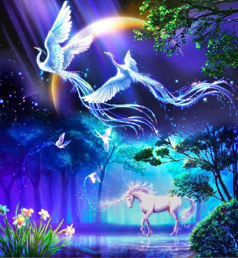 new 3d diy diamond painting animals birds lover phoenix