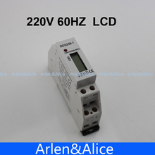 5(32)A 220V 60HZ Single phase Din rail KWH Watt hour din-rail energy meter LCD
