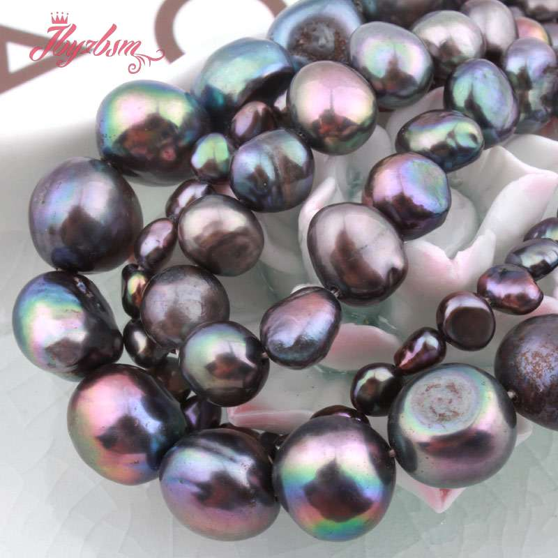 Wholesale Lot 11x7mm Double Drilled Natural Freshwater Pearl Gemstone Loose Bead
