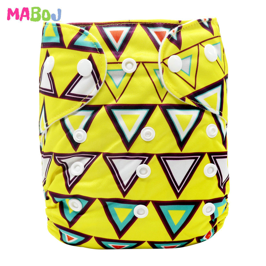 MABOJ Diaper Baby Pocket Diaper Washable Cloth Diapers Reusable Nappies Cover Newborn Waterproof Girl Boy Bebe Nappy Wholesale - Цвет: PD5-5-11