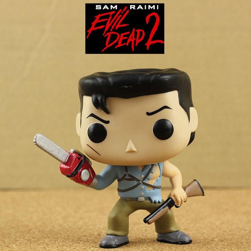 Imperfect Funko POP Second-hand Horror Movies: Evil Dead 2 Ash with Saw Vinyl Action Figure Collectible Model Toy Cheap No box funko pop official movies moana maui pvc action figure toys 2017 new 100% original pop toy for children baby gift comes with box