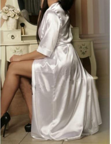 Women Sexy Slips Nightdress Erotic Lace Sleepwear Negligee Babydoll Chemise Pajamas Long Satin Bathrobe