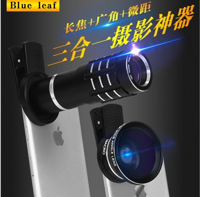 Clipe Lente 12X Zoom Telefoto + lente Grande angular + lente Macro 12.5X 3 in1 câmera do telefone móvel para iphone 6 6 s samsung xiaomi lg