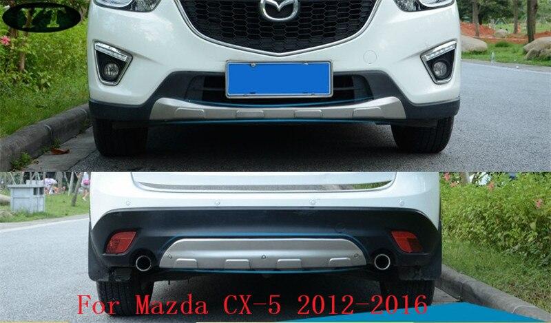Auto avant et arrière plaque de protection dérapage bar pour mazda cx 5 2012-2016, acier inoxydable, 2 pcs/lot