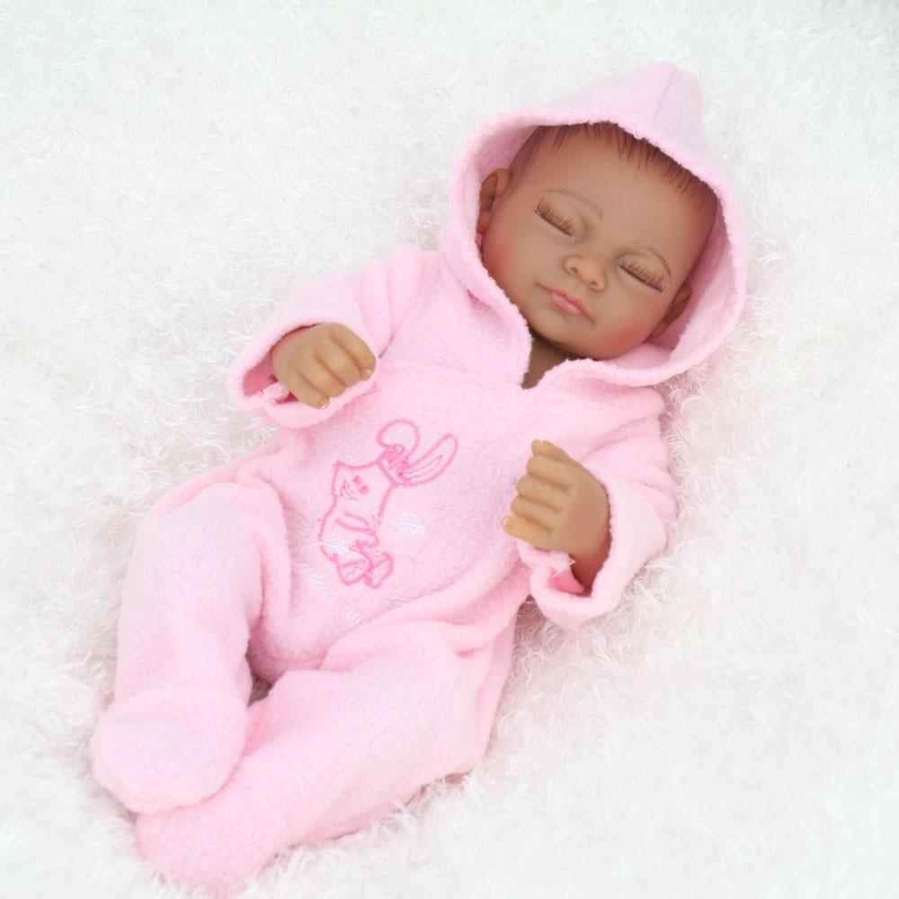 "Doll Girls Vinyl African Lifelike Baby Black 10/"" Silicone Boys Full Dolls Body"