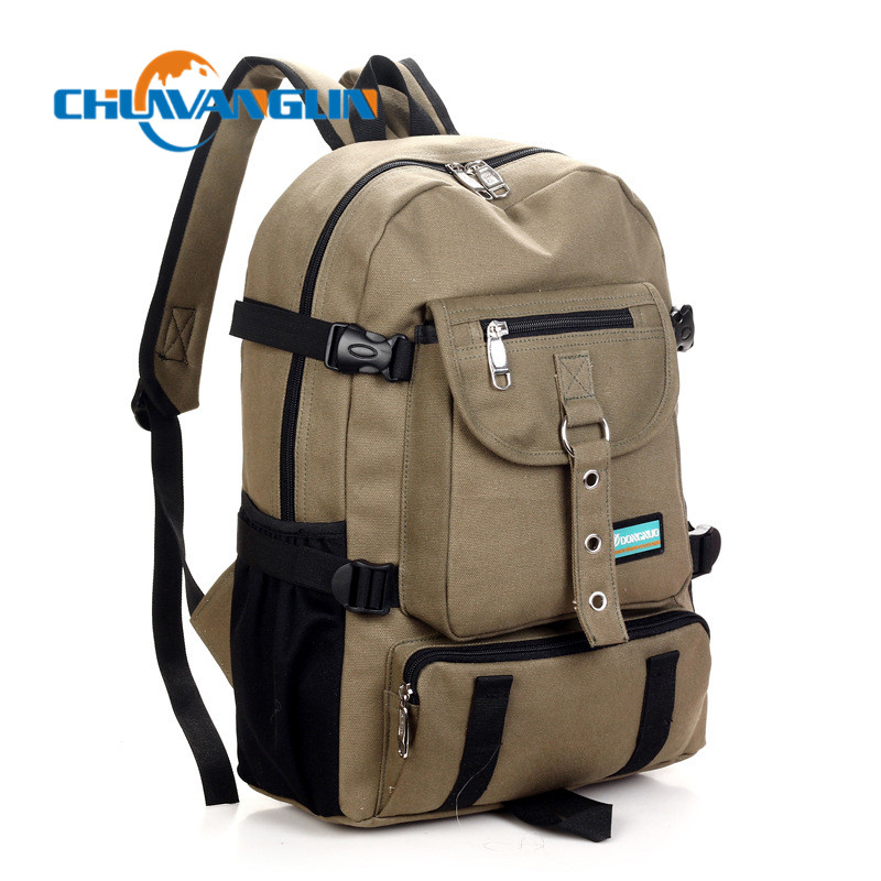 Chuwanglin  Arcuate Shouider Strap Zipper Solid Casual Bag Male Backpack School Bag Canvas Bag Designer Backpacks For Men Zd5194