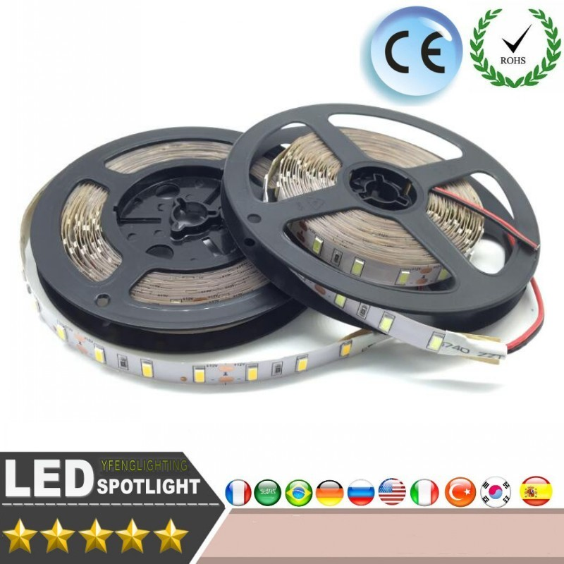 LED Strip Light 5M 10M DC12V SMD 3528 60LEDs/M Not Waterproof LEd RGB Strip Holiday Ribbon Tape Home Decoration Lamp LED Strip