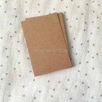 משלוח חינם wholesales מלבן ריק נייר קראפט כרטיס 10x15 ס