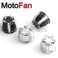 2PCS Motorcycle Front Axle Nut Covers Cap Kit Billet Aluminum For Harley Davidson Sportster 883 1200
