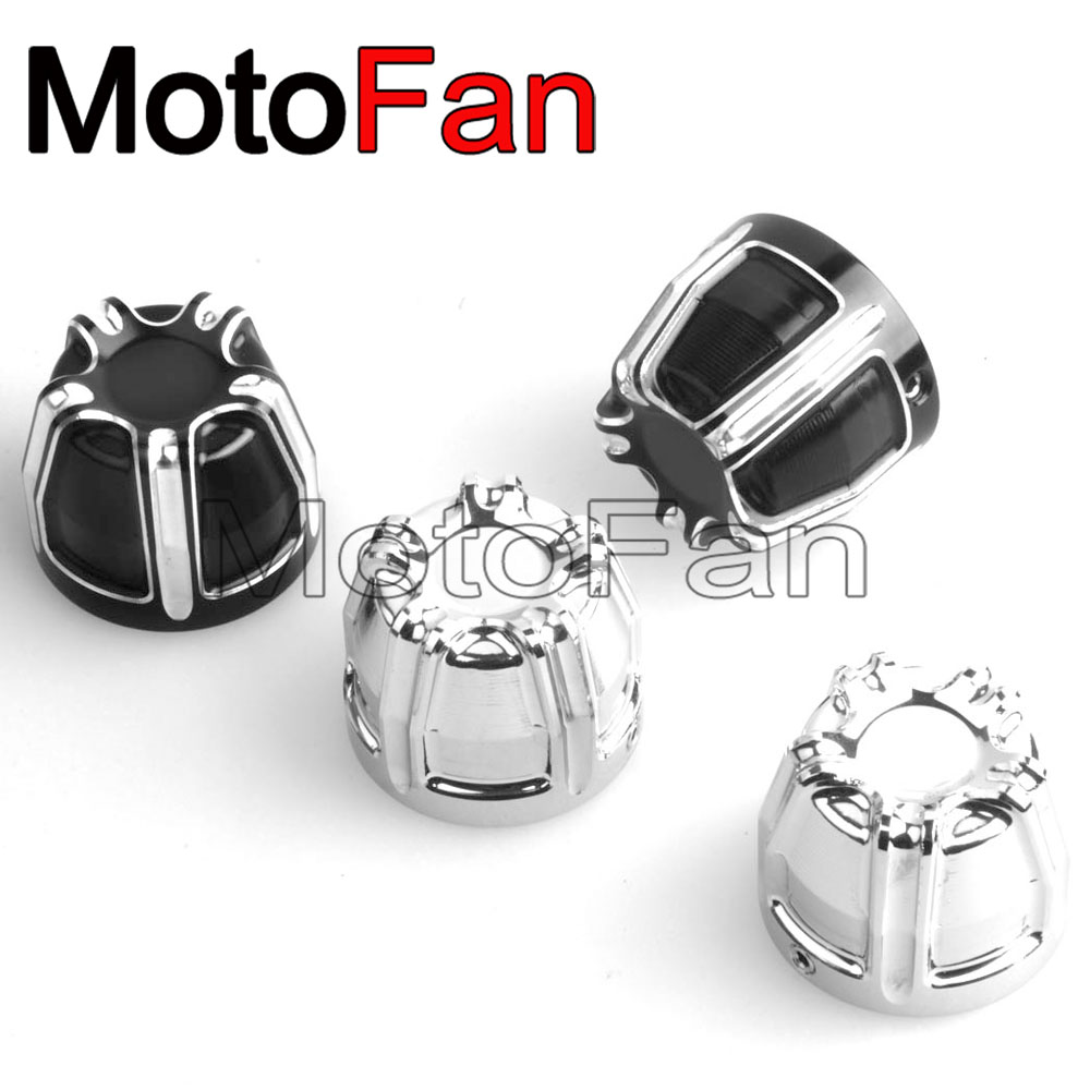 2PCS Motorcycle Front Axle Nut Covers Cap Kit Billet Aluminum for Harley Davidson Sportster 883 1200  V Rod Touring Trike XG XL abs rear chrome axle cap cover kit motorcycle decorative accessories for harley davidson sportster xl883 1200n 2005 2014 7395