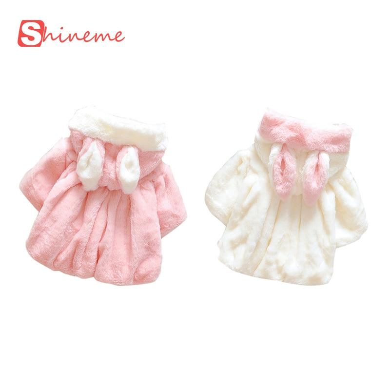 6b240507a Baby Girl Coat Newborn Winter 2016 Fur Collar Overcoat Soft Faux Fur ...