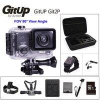 Gitup git2p 90 градусов объектив действие Камера 2 К Wi Fi Спорт DV Full HD 1080 P 30 м Водонепроницаемый мини видеокамера 1.5 дюймов Новатэк 96660