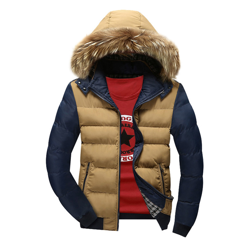 2017 New Men Hooded Down Jacket Brand Clothing Winter Warm Thick Plus Size Cotton-Padded Parka Coat Outwear Jacket Y1945 winter brand new men winter cotton down jackets for men winter hooded jacket men winter coat plus size xxxl