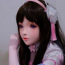 KM101) ручной работы женский смолы кроссдресс красивая девушка половина головы Лолита BJD кукольная Маска Косплей Маска кигуруми кроссдресс