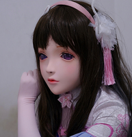 (KM101) Handmade Female Resin Crossdress Pretty Girl Half Head Lolita BJD Doll Mask Cosplay Kigurumi Mask Crossdresse