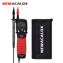 NEWACALOX Handheld Backlight LCD Display Digital Multimeter Pen Type Meter DC/AC Voltage Resistance Diode Continuity Tester Tool