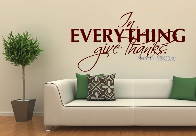 In Everything Give Thanks Wall Quote Wall Decals Classic