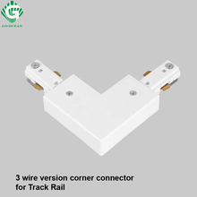 3 Wire Light Rail Track Connector Corner Connectors 3-wire fitting Global led track rail connector
