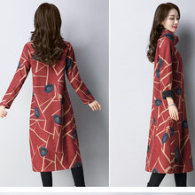 P Ammy Lagenlook Cotton   Linen Mid-Long Turtleneck Jumper Dress Winter Plus  Size Long Sleeve voguees Baggy Tunic 644103cb971d