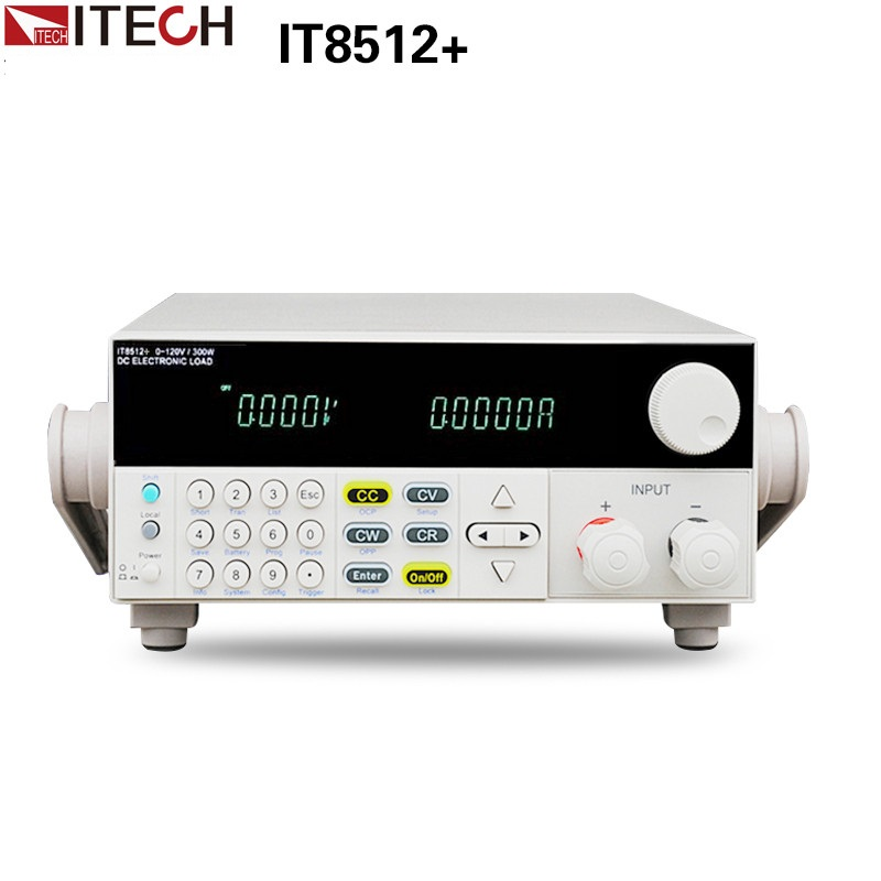 ITECH IT8512+ DC Programmable Electronic Load 120V 30A 300W 1mV 0.1mA itech lk 209l brown коричневый