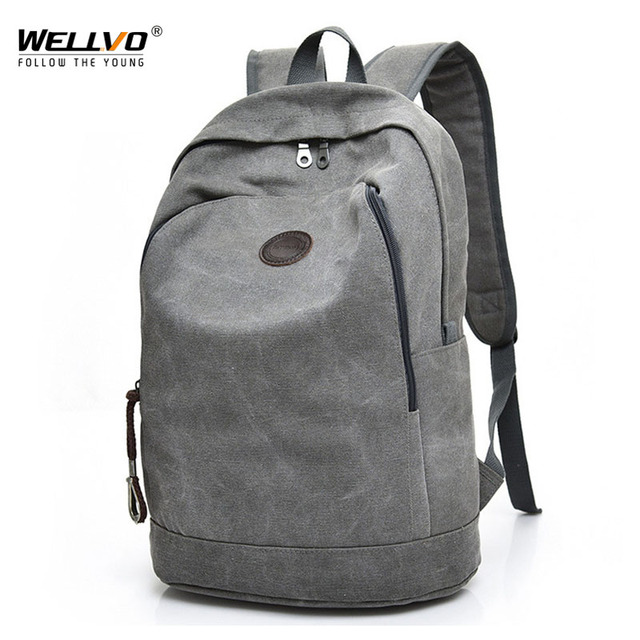 Men Canvas Backpack Laptop School Bag For Age Boys Students Casual Travel Backpacks Large Rucksack Book