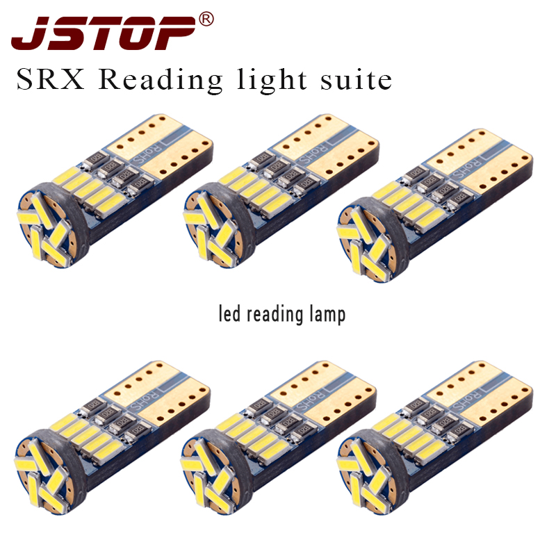 Jstop 6piece/set Srx Led Car Reading Light T10 Trunk Lamp 12v Dome Bulbs Led W5w T10 Interior Lights 6000k Auto Reading Lamps Firm In Structure