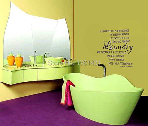 Laundry Piles Laundry Room vinyl wall quote for home wall decals ...