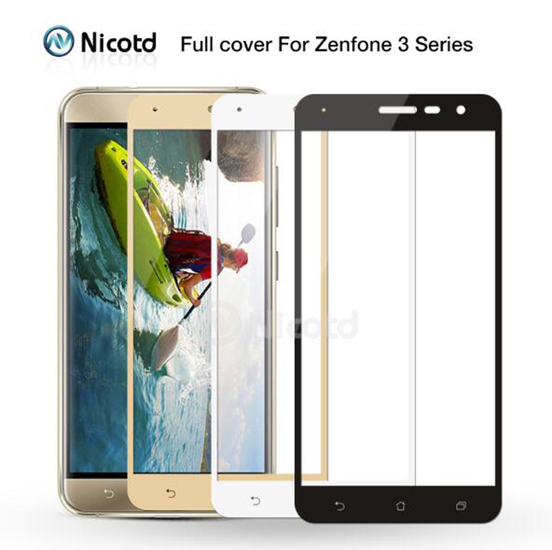 huge discount e5512 e947f US $1.47 26% OFF|Nicotd Full Cover Tempered Glass For Asus Zenfone 3 Max  ZC520TL ZC553KL Screen Protector Film For Asus Zenfone3 ZE520KL ZE552KL -in  ...