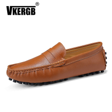 VKERGB Classic Comfortable Men Casual Shoes Big Size Genuine Leather Loafers Flats Mens Moccasins Slip On Driving 47