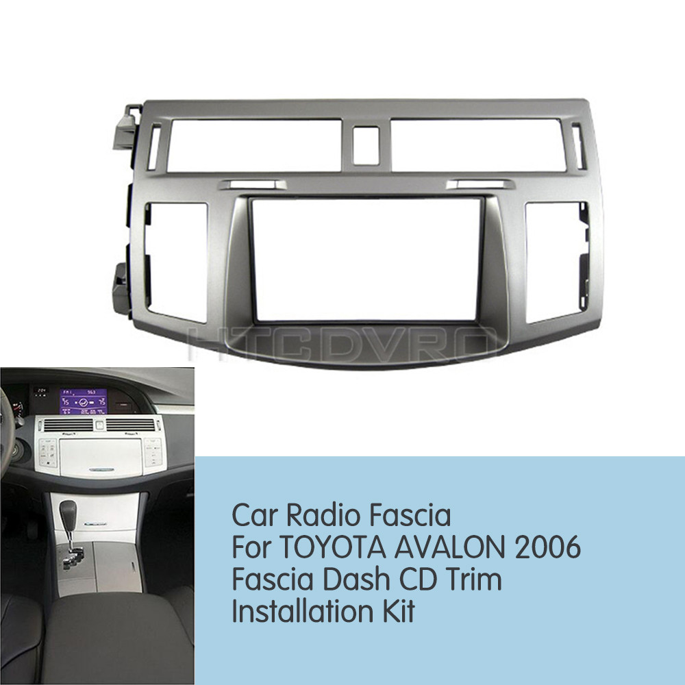 hight resolution of htcdvro 173x98mm 178x100mm 178x102mm car radio fascia for toyota avalon 2006 stereo panel dash