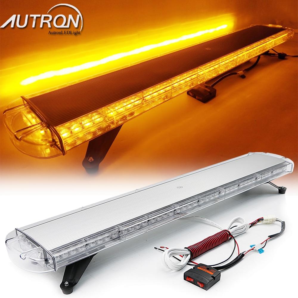 """47/"""" 88W LED Strobe Light Bar Warn Emergency Tow Truck Wrecker Amber Roof 12//24V"""