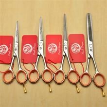 "4"" 5.0"" 5.5"" Purple Dragon 440C Professional Human Hair Scissors Hairdressing Scissors Cutting Shears Thinning Scissors Z1017"