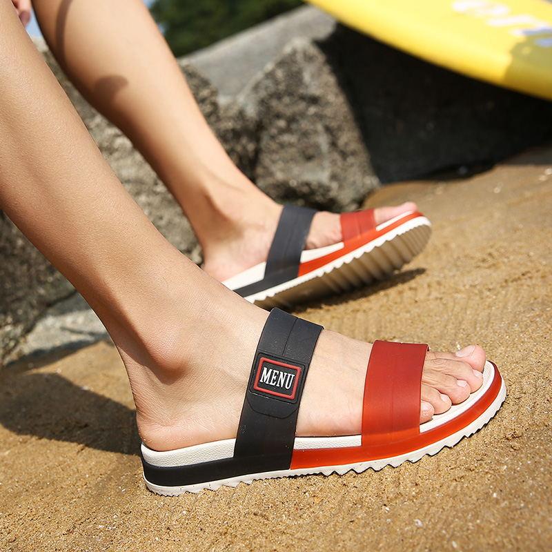 LAISUMK Summer Beach Men Slippers Casual Shoes Double Buckle Man Slip on Flip Flops Flats Camouflage Flip Flop Indoor & Outdoor 105